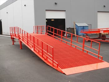 Loading Ramp Removable Handrails