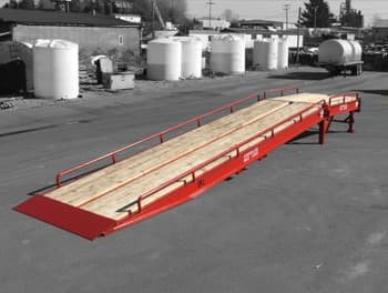 Loading Ramp Wood Deck