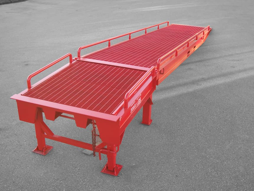 custom portable forklift docks