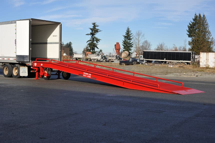 mobile portable loading ramp
