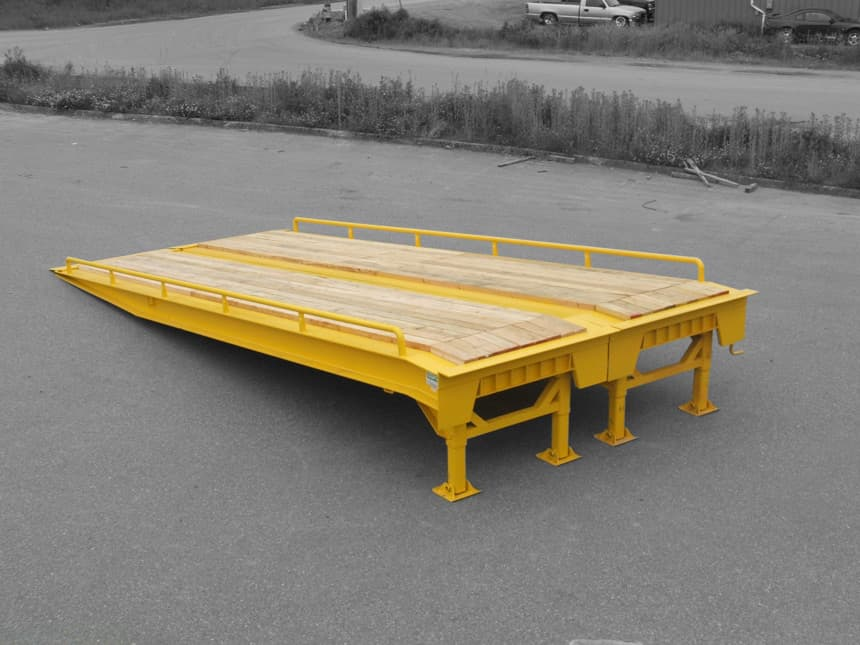 portable forklift loading ramp