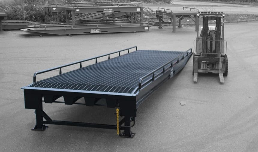 Portable forklift loading ramps