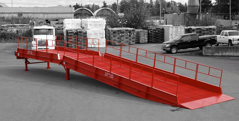 Custom warehouse loading ramp design