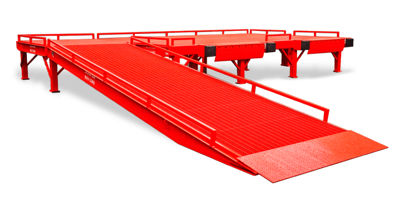 Free standing loading dock ramp